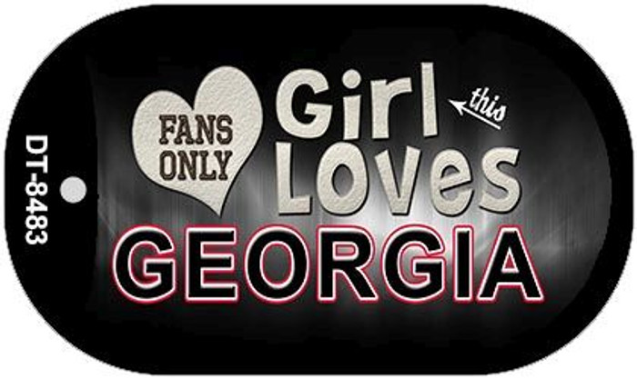 This Girl Loves Her Georgia Novelty Metal Dog Tag Necklace DT-8483