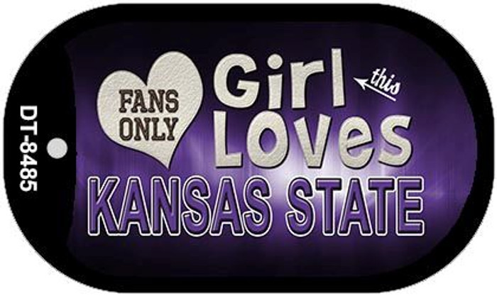 This Girl Loves Her Kansas State Novelty Metal Dog Tag Necklace DT-8485