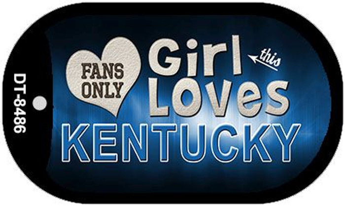 This Girl Loves Her Kentucky Novelty Metal Dog Tag Necklace DT-8486