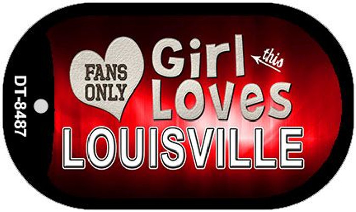 This Girl Loves Her Louisville Novelty Metal Dog Tag Necklace DT-8487