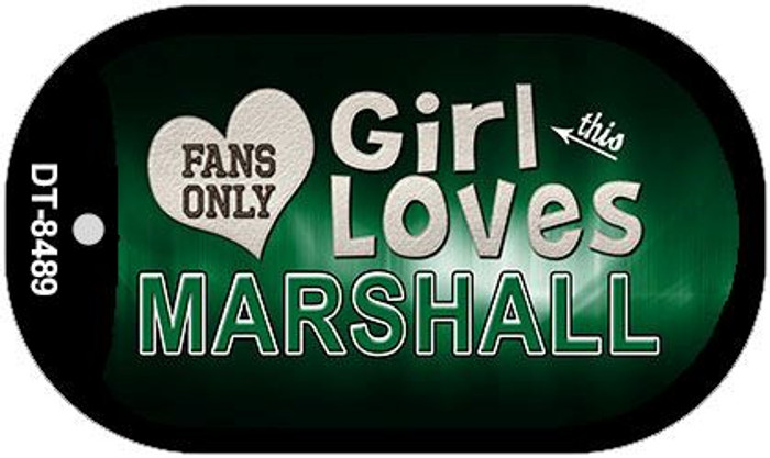 This Girl Loves Her Marshall Novelty Metal Dog Tag Necklace DT-8489
