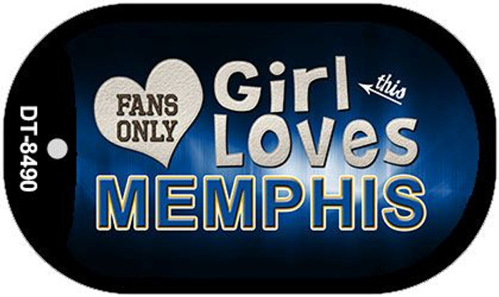 This Girl Loves Her Memphis Novelty Metal Dog Tag Necklace DT-8490