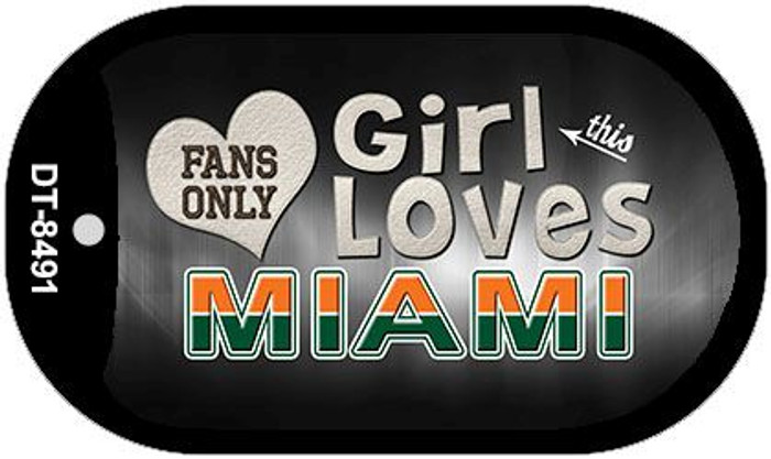 This Girl Loves Her Miami Novelty Metal Dog Tag Necklace DT-8491