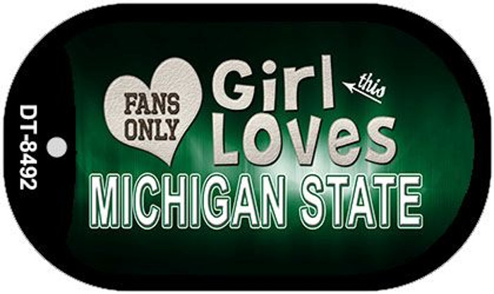 This Girl Loves Her Michigan State Novelty Metal Dog Tag Necklace DT-8492