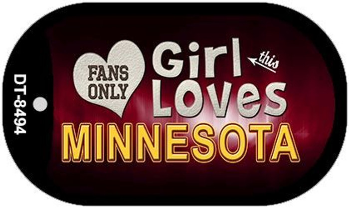 This Girl Loves Her Minnesota Novelty Metal Dog Tag Necklace DT-8494