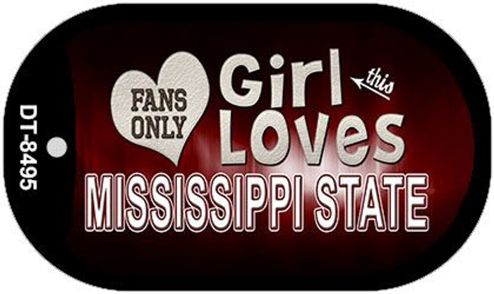 This Girl Loves Her Mississippi State Novelty Metal Dog Tag Necklace DT-8495