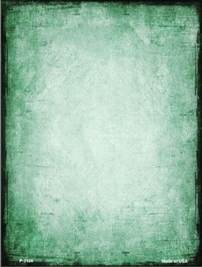 Distressed Green Metal Novelty Parking Sign P-2186