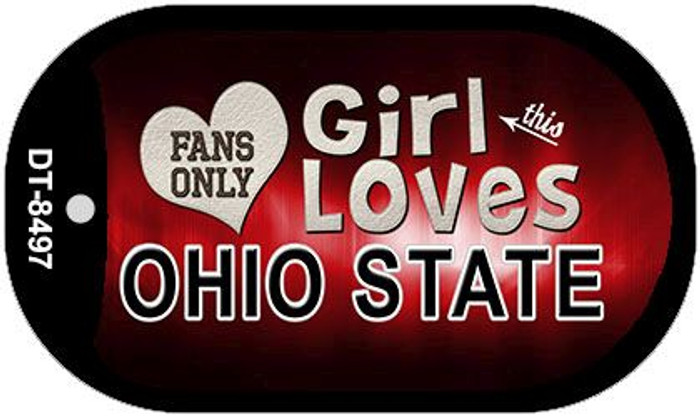 This Girl Loves Her Ohio State Novelty Metal Dog Tag Necklace DT-8497