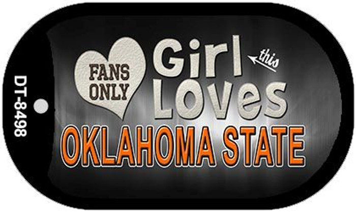This Girl Loves Her Oklahoma State Novelty Metal Dog Tag Necklace DT-8498