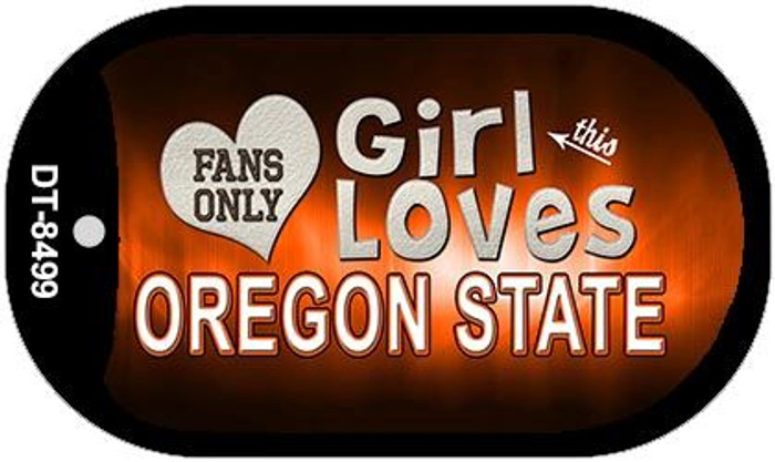 This Girl Loves Her Oregon State Novelty Metal Dog Tag Necklace DT-8499