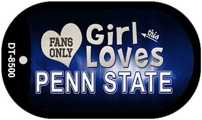 This Girl Loves Her Penn State Novelty Metal Dog Tag Necklace DT-8500