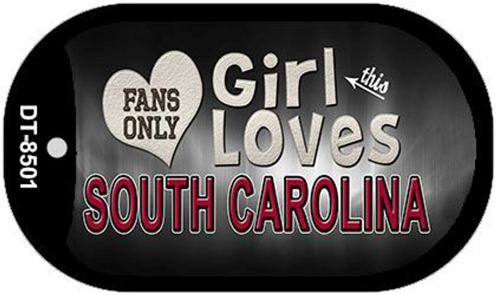 This Girl Loves Her South Carolina Novelty Metal Dog Tag Necklace DT-8501