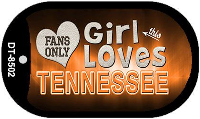 This Girl Loves Her Tennessee Novelty Metal Dog Tag Necklace DT-8502