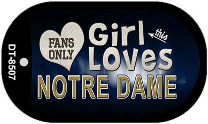 This Girl Loves Her Notre Dame Novelty Metal Dog Tag Necklace DT-8507