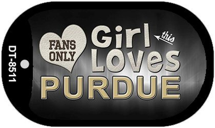 This Girl Loves Her Purdue Novelty Metal Dog Tag Necklace DT-8511