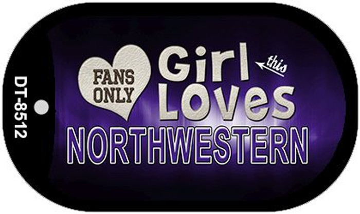 This Girl Loves Her Northwestern Novelty Metal Dog Tag Necklace DT-8512