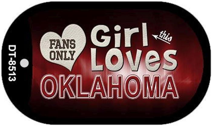 This Girl Loves Her Oklahoma Novelty Metal Dog Tag Necklace DT-8513