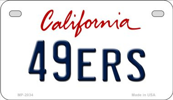 49ers California Novelty Metal Motorcycle Plate MP-2034