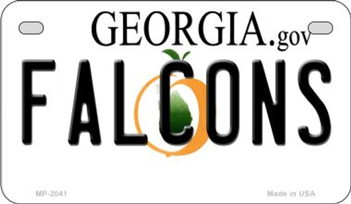 Falcons Georgia Novelty Metal Motorcycle Plate MP-2041