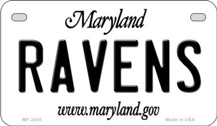 Ravens Maryland Novelty Metal Motorcycle Plate MP-2045