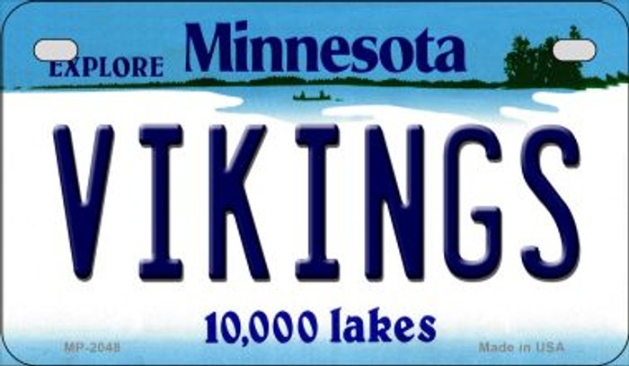 Vikings Minnesota Novelty Metal Motorcycle Plate MP-2048
