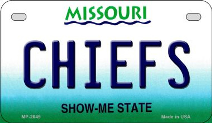 Chiefs Missouri Novelty Metal Motorcycle Plate MP-2049