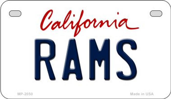 Rams California Novelty Metal Motorcycle Plate MP-2050