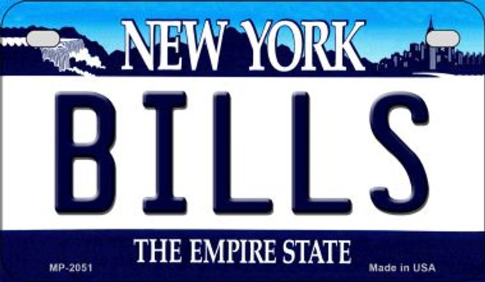 Bills New York Novelty Metal Motorcycle Plate MP-2051