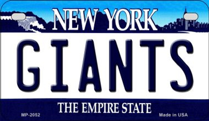 Giants New York Novelty Metal Motorcycle Plate MP-2052