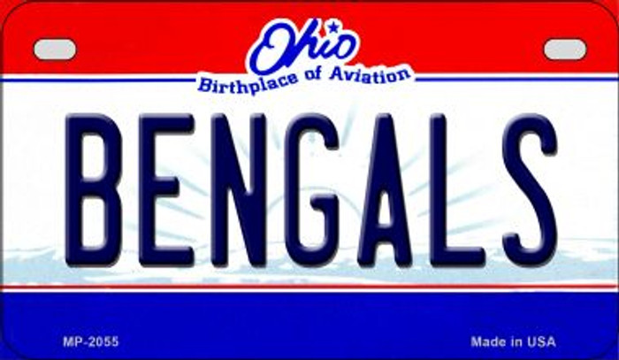 Bengals Ohio Novelty Metal Motorcycle Plate MP-2055
