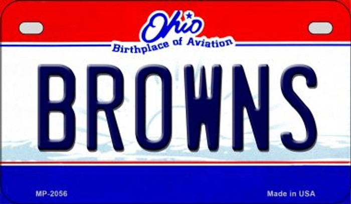 Browns Ohio Novelty Metal Motorcycle Plate MP-2056