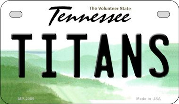 Titans Tennessee Novelty Metal Motorcycle Plate MP-2059