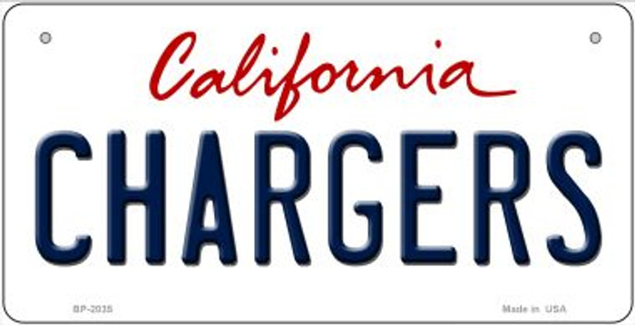 Chargers California Novelty Metal Bicycle Plate BP-2035
