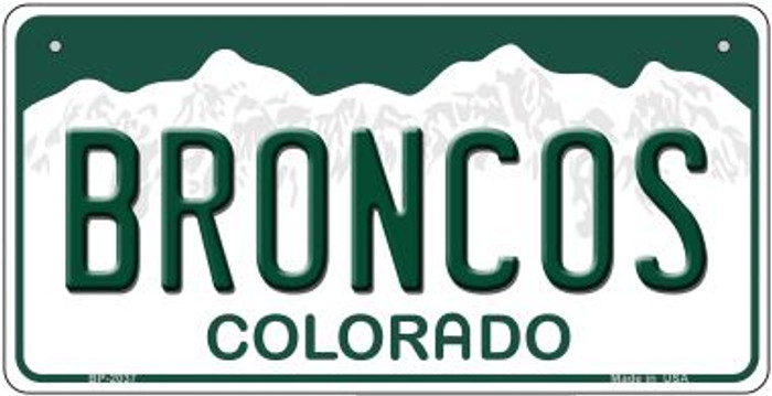 Broncos Colorado Novelty Metal Bicycle Plate BP-2037
