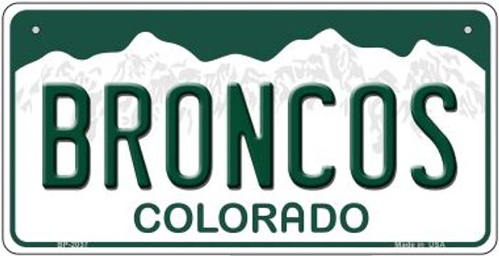 Broncos Colorado Novelty Metal Bicycle Plate BP-2037