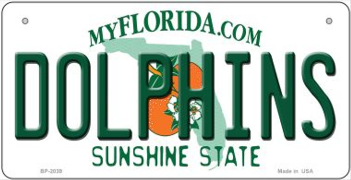 Dolphins Florida Novelty Metal Bicycle Plate BP-2039