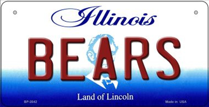 Bears Illinois Novelty Metal Bicycle Plate BP-2042