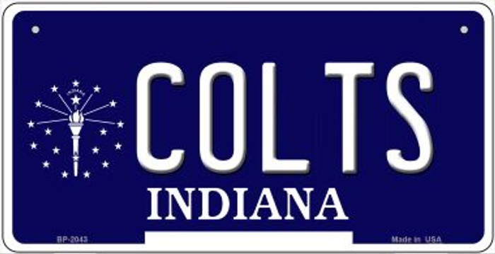 Colts Indiana Novelty Metal Bicycle Plate BP-2043