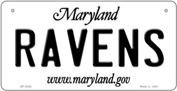 Ravens Maryland Novelty Metal Bicycle Plate BP-2045