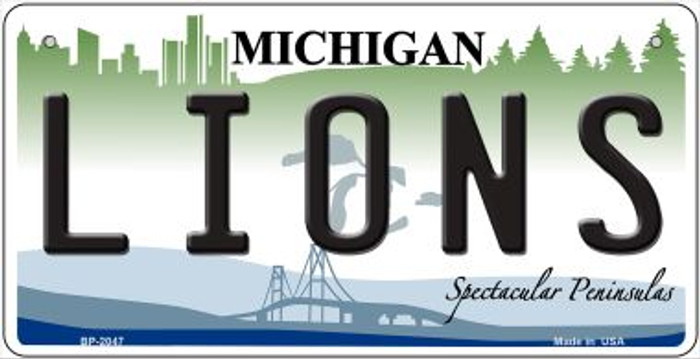 Lions Michigan Novelty Metal Bicycle Plate BP-2047