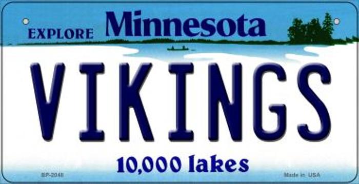 Vikings Minnesota Novelty Metal Bicycle Plate BP-2048