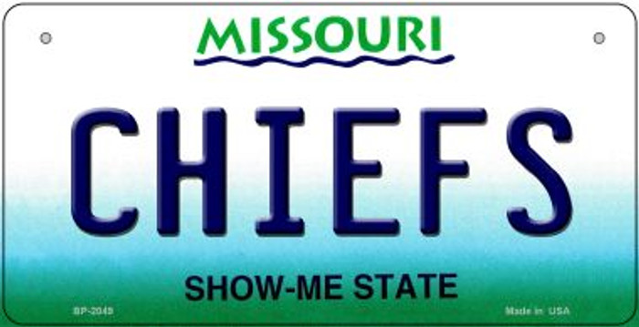 Chiefs Missouri Novelty Metal Bicycle Plate BP-2049