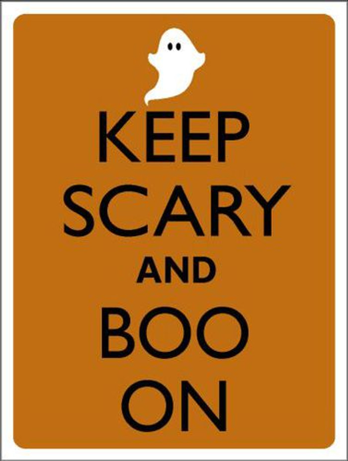 Keep Calm And Boo On Metal Novelty Parking Sign P-2193