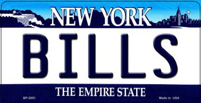 Bills New York Novelty Metal Bicycle Plate BP-2051