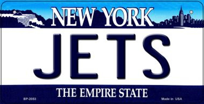 Jets New York Novelty Metal Bicycle Plate BP-2053