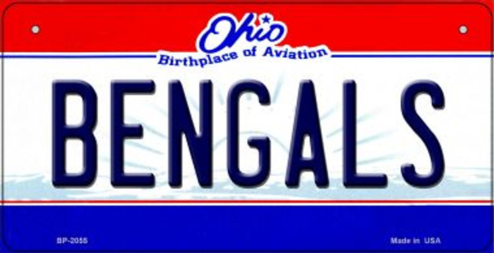 Bengals Ohio Novelty Metal Bicycle Plate BP-2055