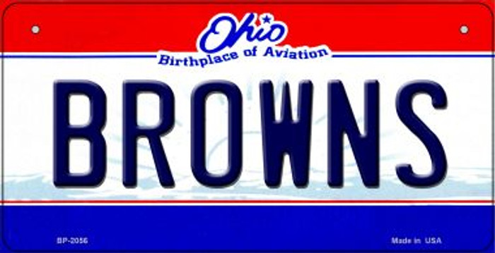 Browns Ohio Novelty Metal Bicycle Plate BP-2056