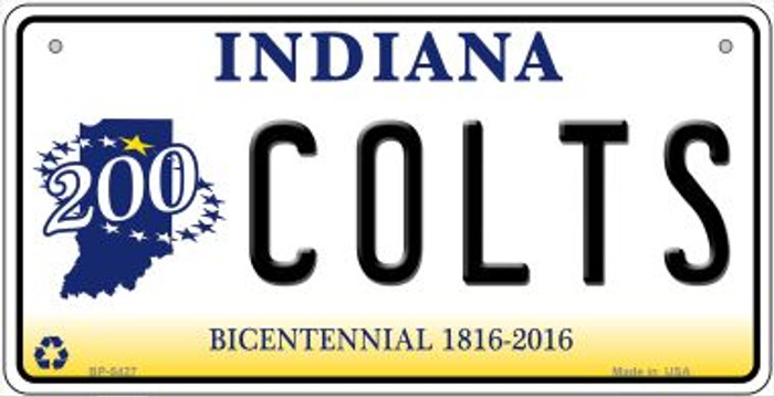 Colts Indiana Novelty Metal Bicycle Plate BP-5427