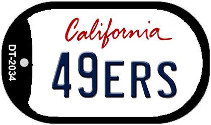 49ers California Novelty Metal Dog Tag Necklace DT-2034