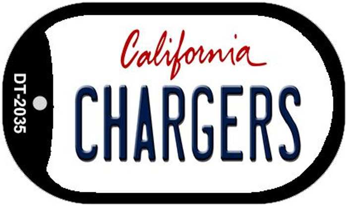 Chargers California Novelty Metal Dog Tag Necklace DT-2035